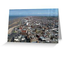 Landscape Blackpool Greeting Card