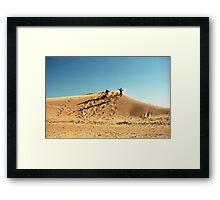 Dune Jump Framed Print