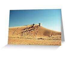 Dune Jump Greeting Card