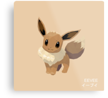 Eevee Low Poly Metal Print
