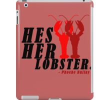 hes her lobster iPad Case/Skin