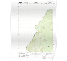 Maine USGS Historical Map Boundary Pond 20110909 TM Poster