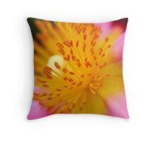 Cistus are doin' it for themselves Throw Pillow