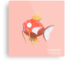 Magikarp Low Poly Metal Print