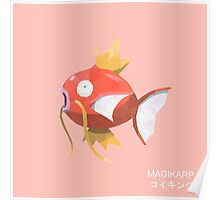 Magikarp Low Poly Poster