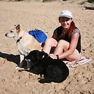 1 Alyssa  with her Kelpie, Collie & Red Cattle Dog by Cathie Brooker