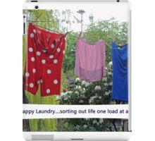 Happy Laundry iPad Case/Skin