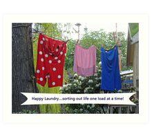 Happy Laundry Art Print