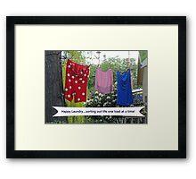Happy Laundry Framed Print