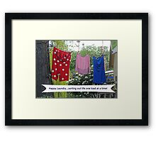 Happy Laundry Framed Print