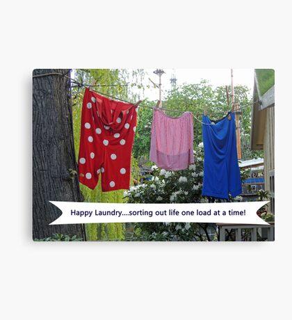 Happy Laundry Canvas Print