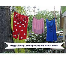 Happy Laundry Photographic Print