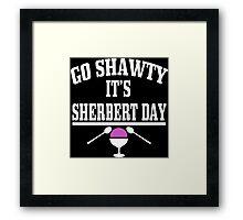 Sherbert Day Funny Geek Nerd Framed Print