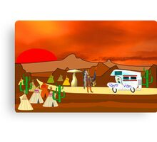 Is this a Good Campsite  Canvas Print