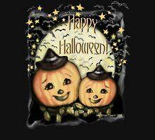 Vintage Halloween Pumpkins T-Shirt Womens Fitted T-Shirt
