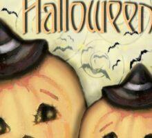 Vintage Halloween Pumpkins T-Shirt Sticker