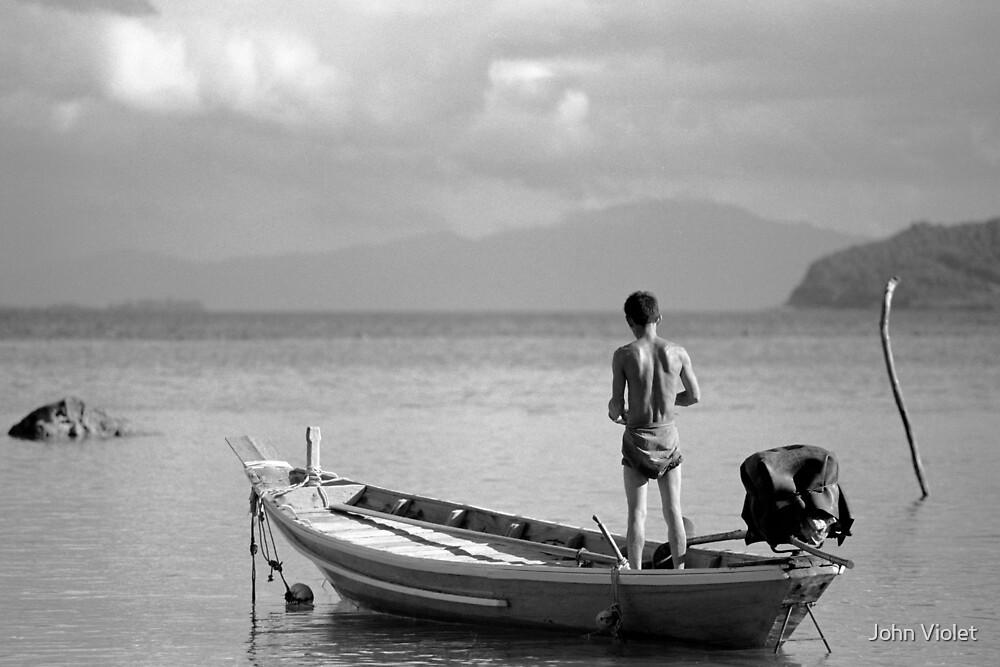 Thai Fisherman by John Violet