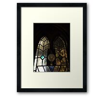 Stained Glass Window by Amber Feng Shui Art Framed Print