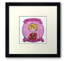 """Who cares about your lonely soul"" (Enjolras) Framed Print"