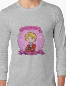 """Who cares about your lonely soul"" (Enjolras) Long Sleeve T-Shirt"