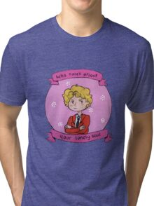 """""""Who cares about your lonely soul"""" (Enjolras) Tri-blend T-Shirt"""