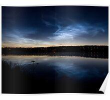 Noctilucent clouds Poster