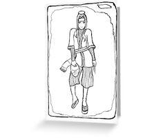 Haku (Uncoloured) Greeting Card