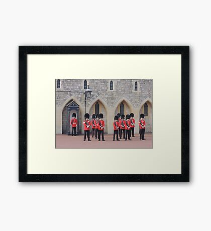 Ceremonial Guards Framed Print