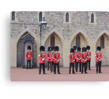 Ceremonial Guards Canvas Print