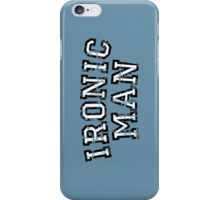 IRONIC MAN Vintage White iPhone Case/Skin
