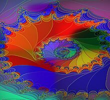A Fractal Web-Available As Art Prints-Mugs,Cases,Duvets,T Shirts,Stickers,etc by Robert Burns