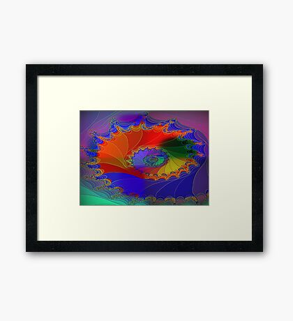 A Fractal Web-Available As Art Prints-Mugs,Cases,Duvets,T Shirts,Stickers,etc Framed Print