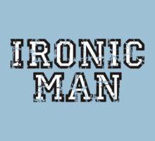 IRONIC MAN Vintage White Kids Clothes