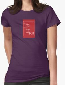 I Love You Art Deco Style in Red T-Shirt