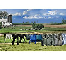 Wash Day In Amish Country Photographic Print