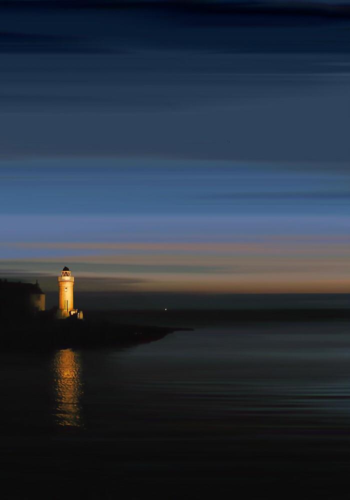 Portpatrick Lightouse by bluefinart
