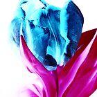 Blue Tulip - UK598/223p - www.lizgarnett.com by Liz Garnett