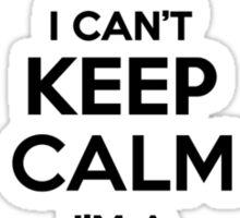 I cant keep calm Im a ZIMPLEMENTE Sticker