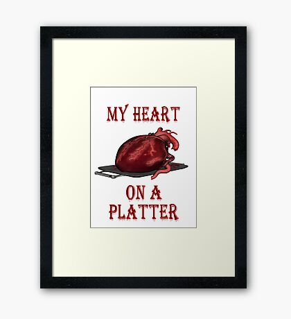 My Heart on Platter  Framed Print