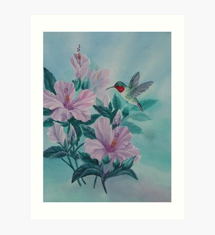 HUMMINGBIRD ORIGINAL OIL Art Print