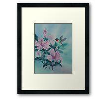 HUMMINGBIRD ORIGINAL OIL Framed Print