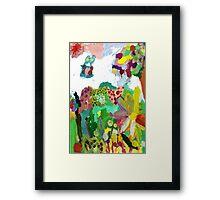 The garden. Framed Print