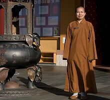 Ven. Ru Yi at Nan Tien Buddhist Temple  by Vanessa Pike-Russell
