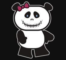 Cute Panda Skull Kids Tee