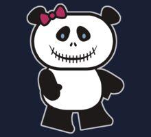 Cute Panda Skull One Piece - Short Sleeve