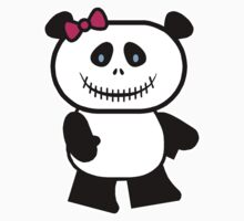 Cute Panda Skull One Piece - Short Sleeve