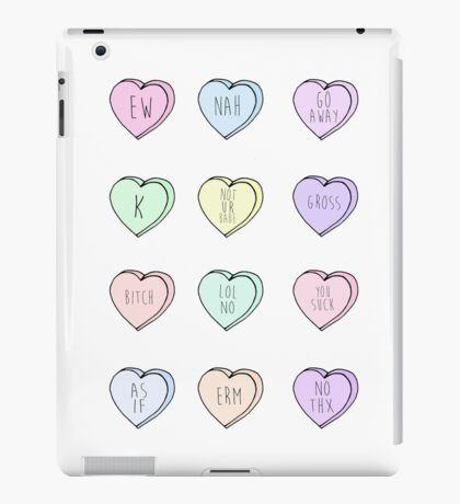 """Hate Hearts"" Design  iPad Case/Skin"