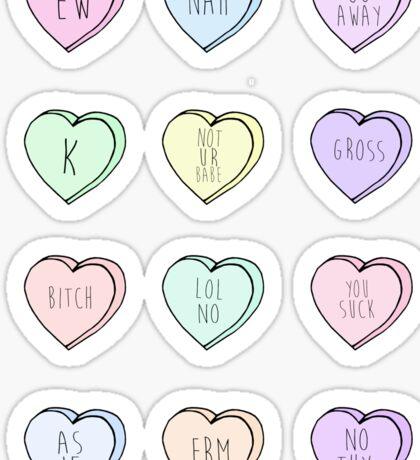 """Hate Hearts"" Design  Sticker"