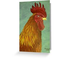 Rooster portrait Greeting Card