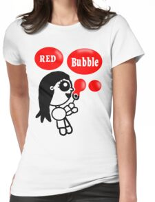 Red Bubble Fun  Womens Fitted T-Shirt